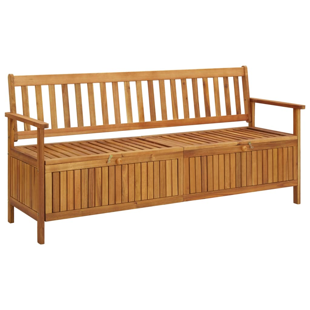vidaXL Bancă de depozitare grădină, 170 cm, lemn masiv de acacia poza 2021 vidaXL