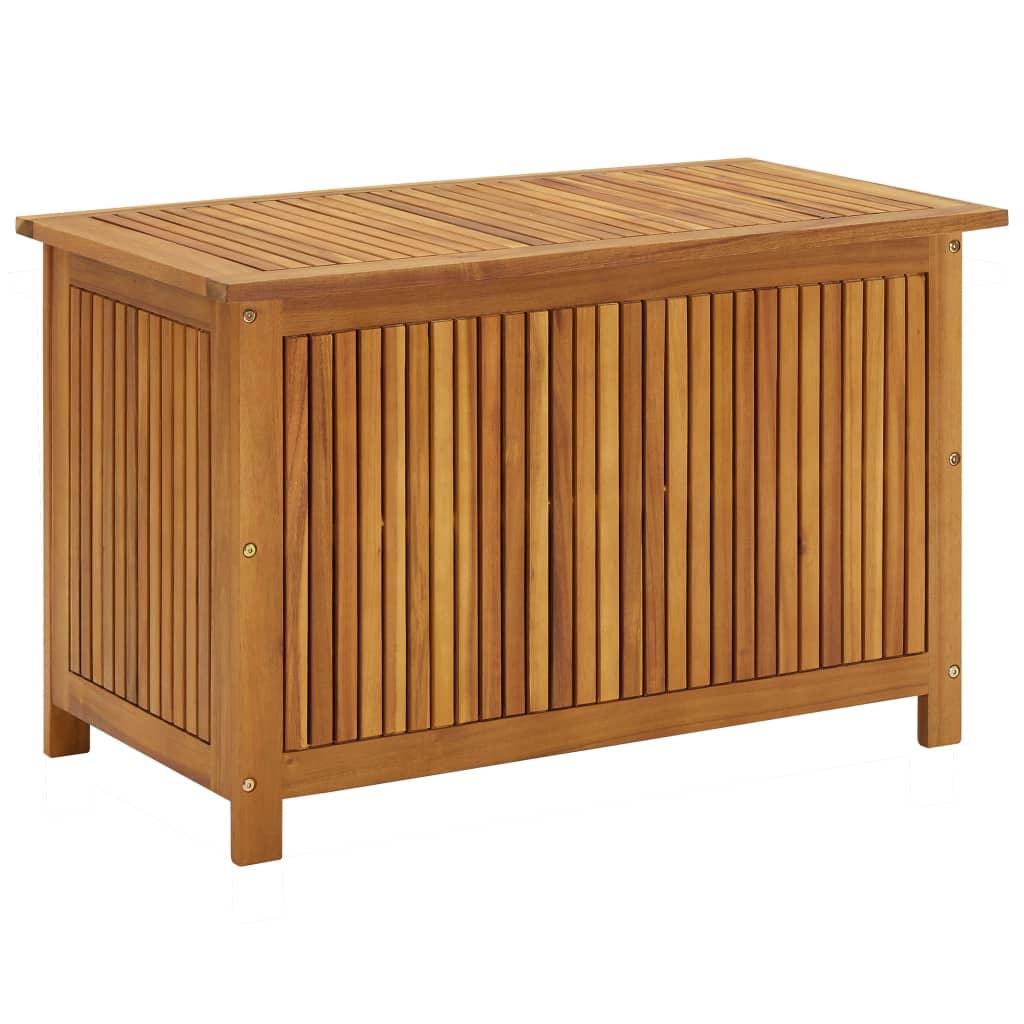 vidaXL Ladă de depozitare grădină, 90x50x106 cm, lemn masiv de acacia imagine vidaxl.ro