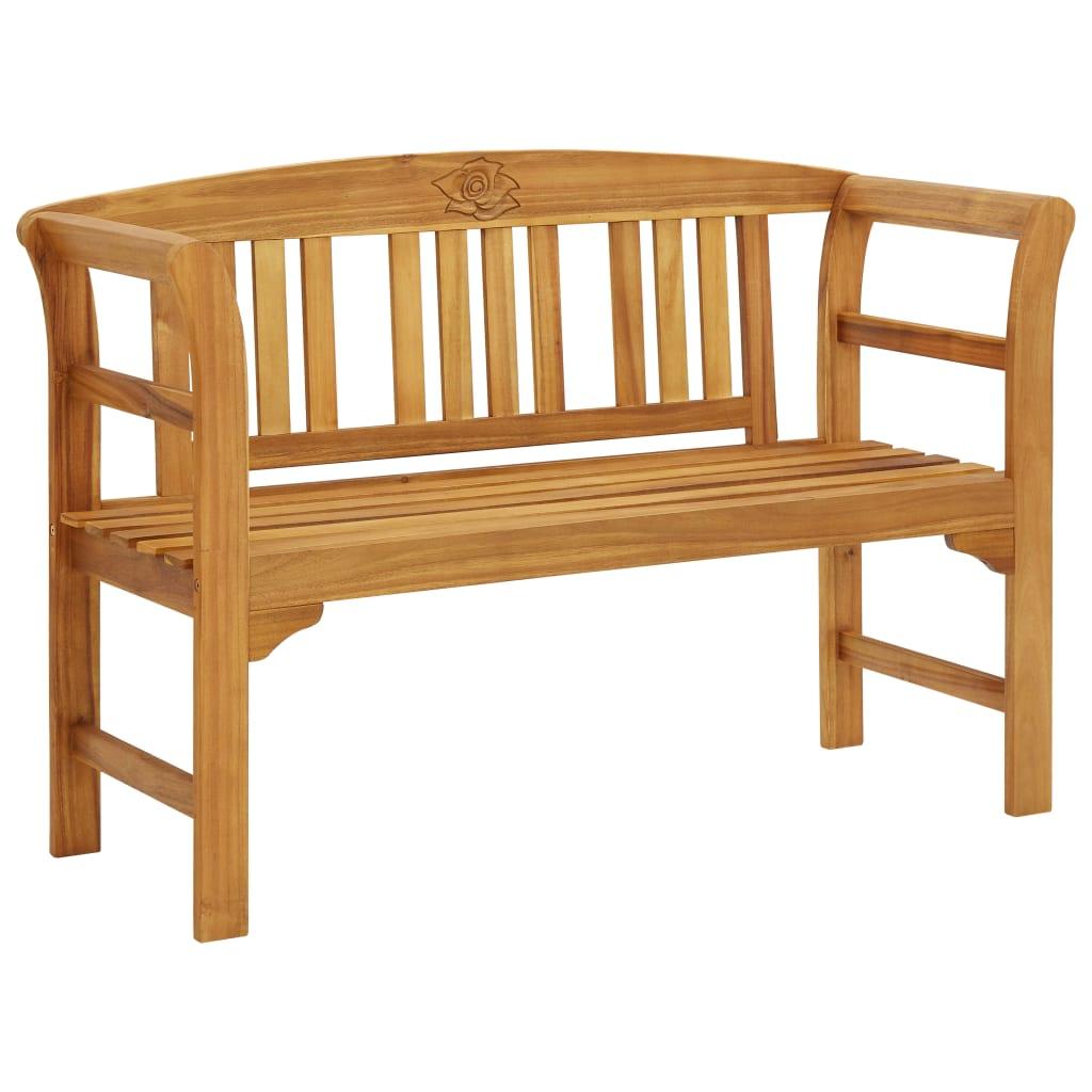 vidaXL Bancă de grădină, 120 cm, lemn masiv de acacia poza 2021 vidaXL