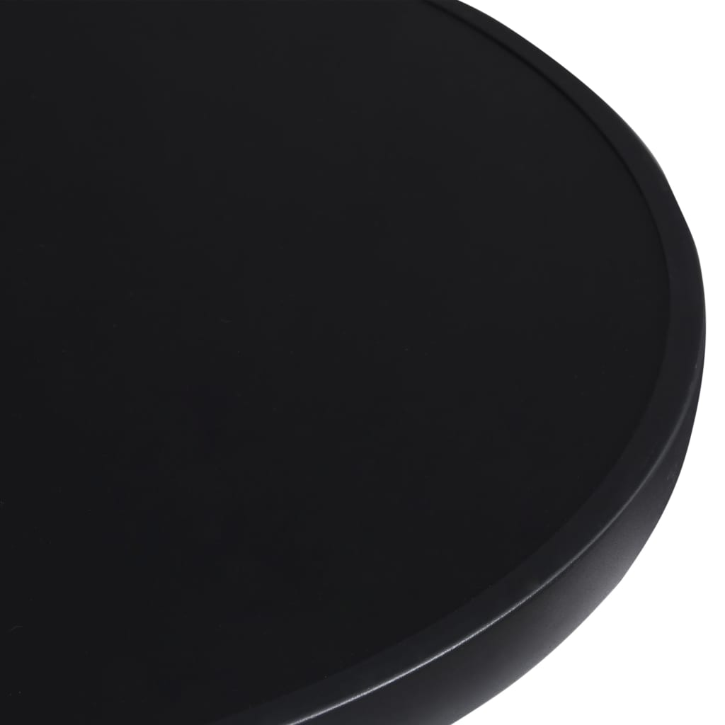vidaXL Tuintafel 60 cm staal en glas antracietkleurig en zwart