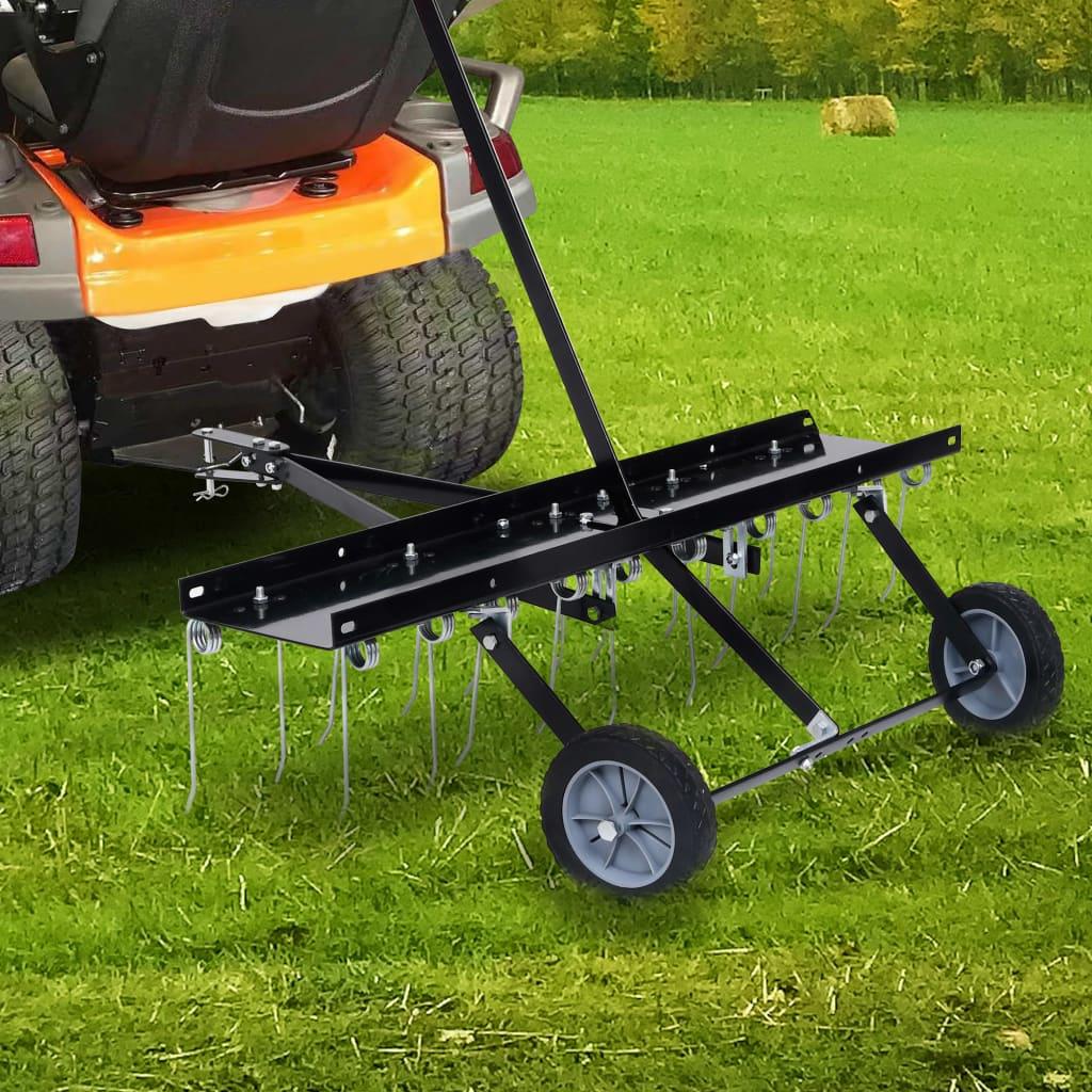 vidaXL Scarificator pentru mașină de tuns iarbă ride-on, 100 cm imagine vidaxl.ro