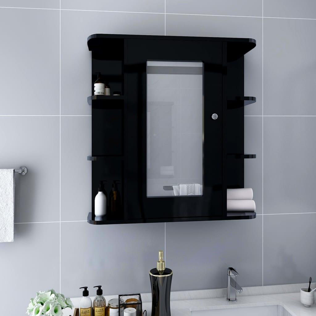 Vannitoa peegelkapp, must, 6..