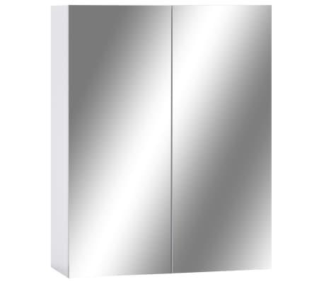 vidaXL Armario de espejo de baño MDF blanco 60x15x75 cm