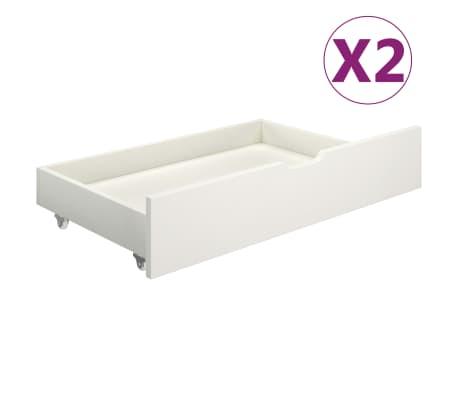 vidaXL Cajones de cama 2 piezas madera maciza de pino blanco