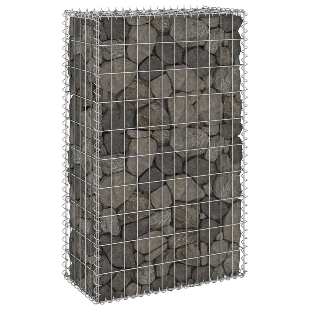 vidaXL Schanskorfmuur met deksels 60x30x100 cm gegalvaniseerd staal