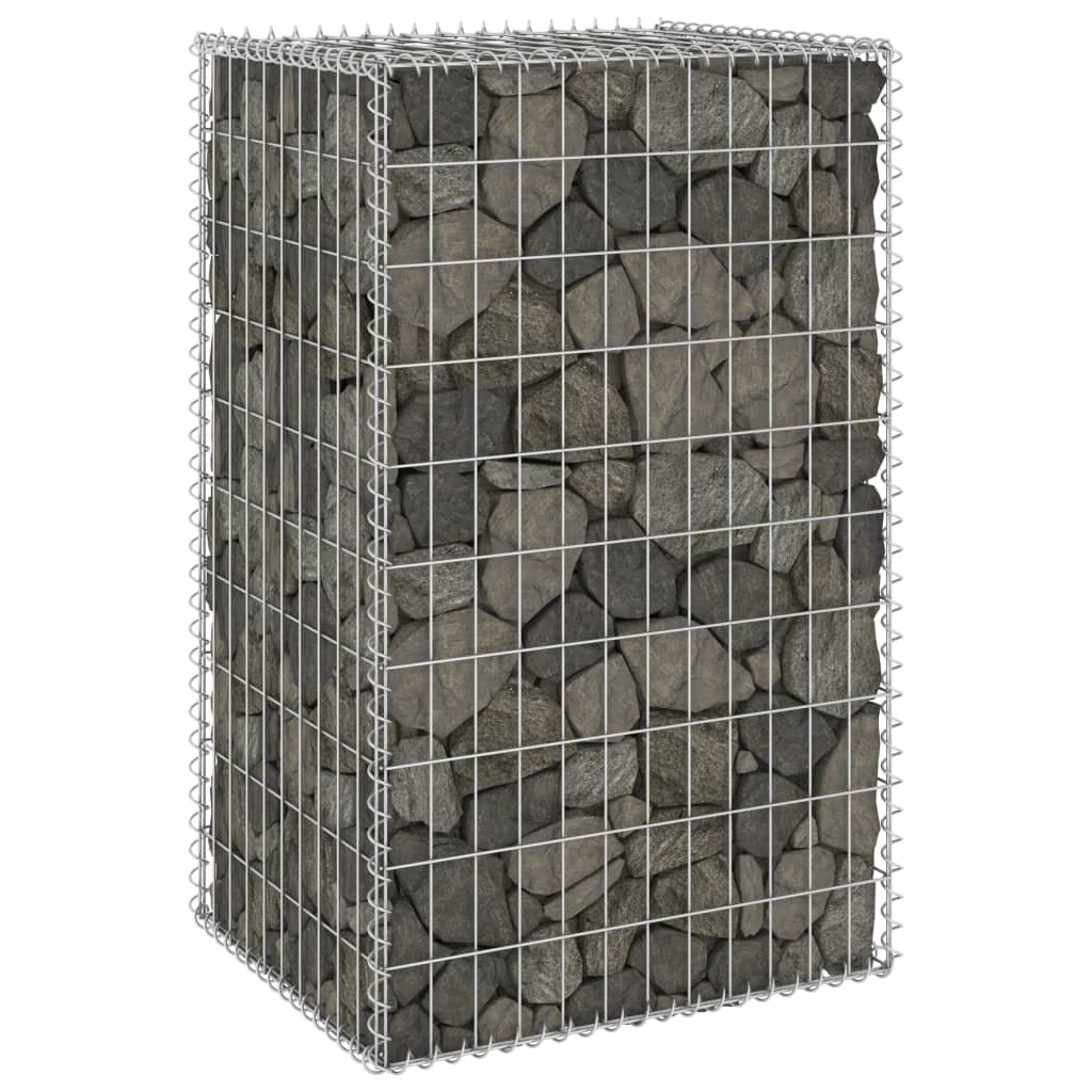 vidaXL Perete gabion cu capace, 60 x 50 x 100 cm, oțel galvanizat poza vidaxl.ro