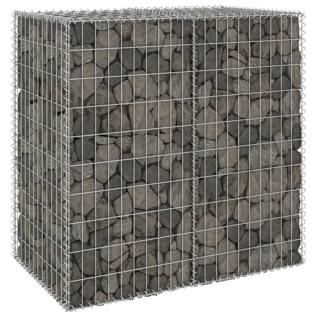 vidaXL Schanskorfmuur met deksels 100x60x100 cm gegalvaniseerd staal