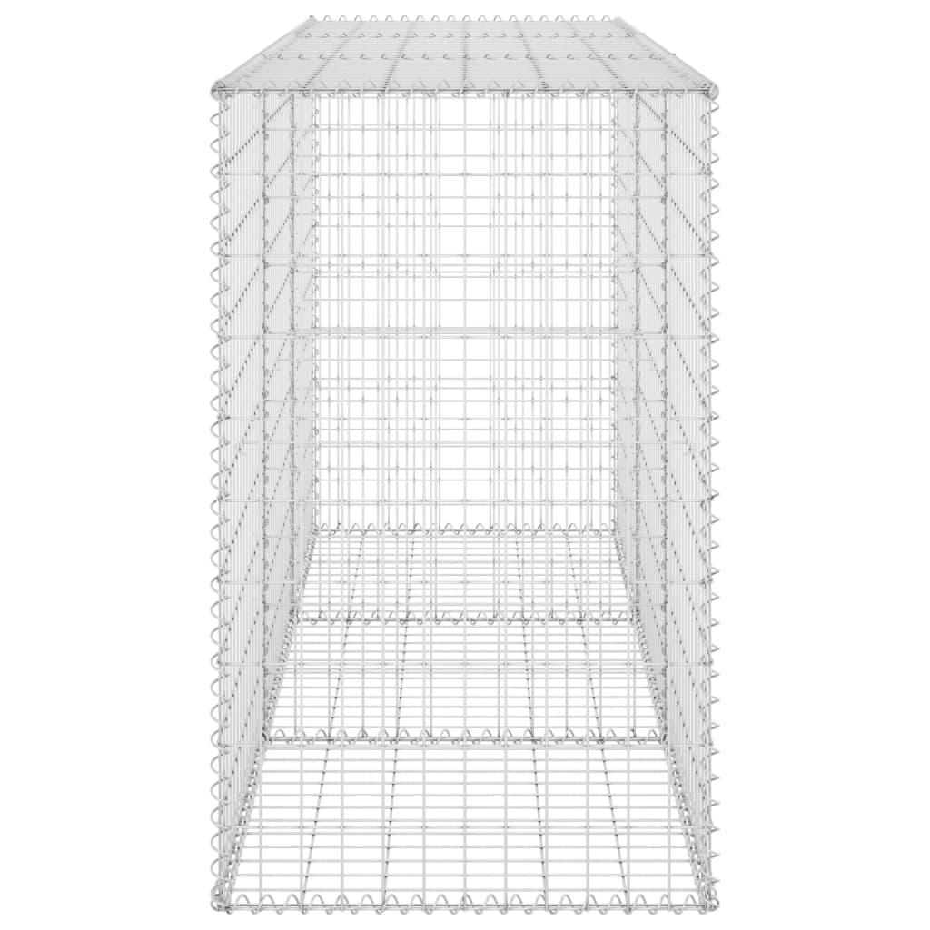 vidaXL Schanskorfmuur met deksels 200x60x100 cm gegalvaniseerd staal