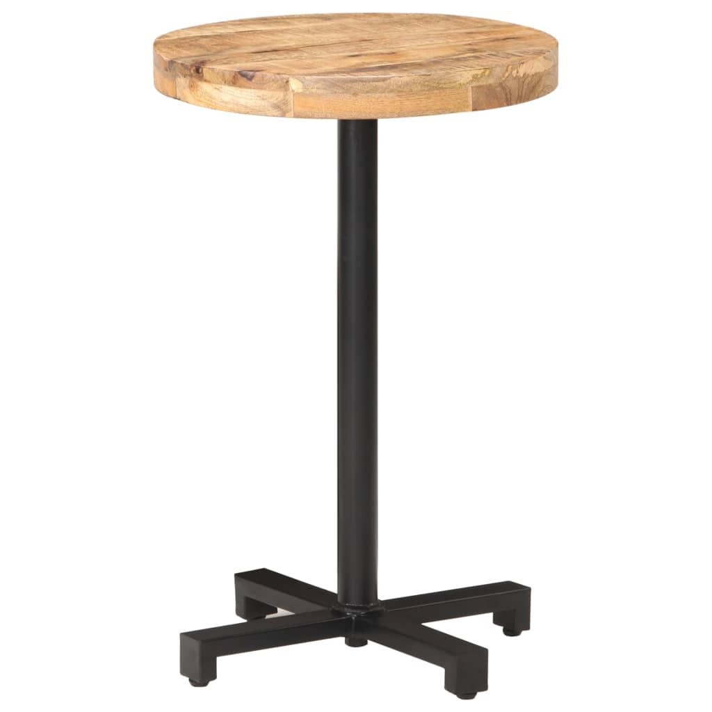 Bistro stůl kulatý Ø 50 x 75 cm hrubé mangovníkové dřevo