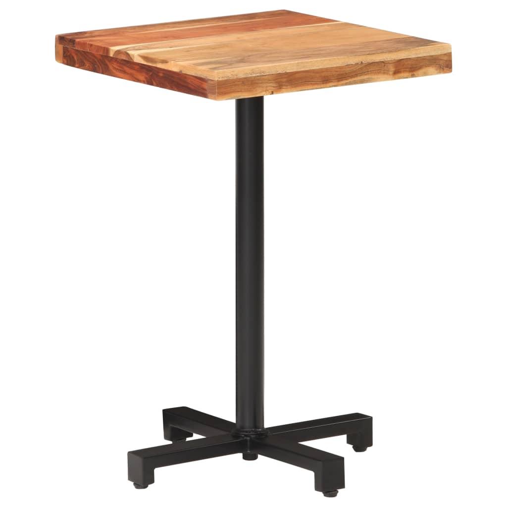 Bistro stůl čtvercový 50 x 50 x 75 cm masivní akáciové dřevo