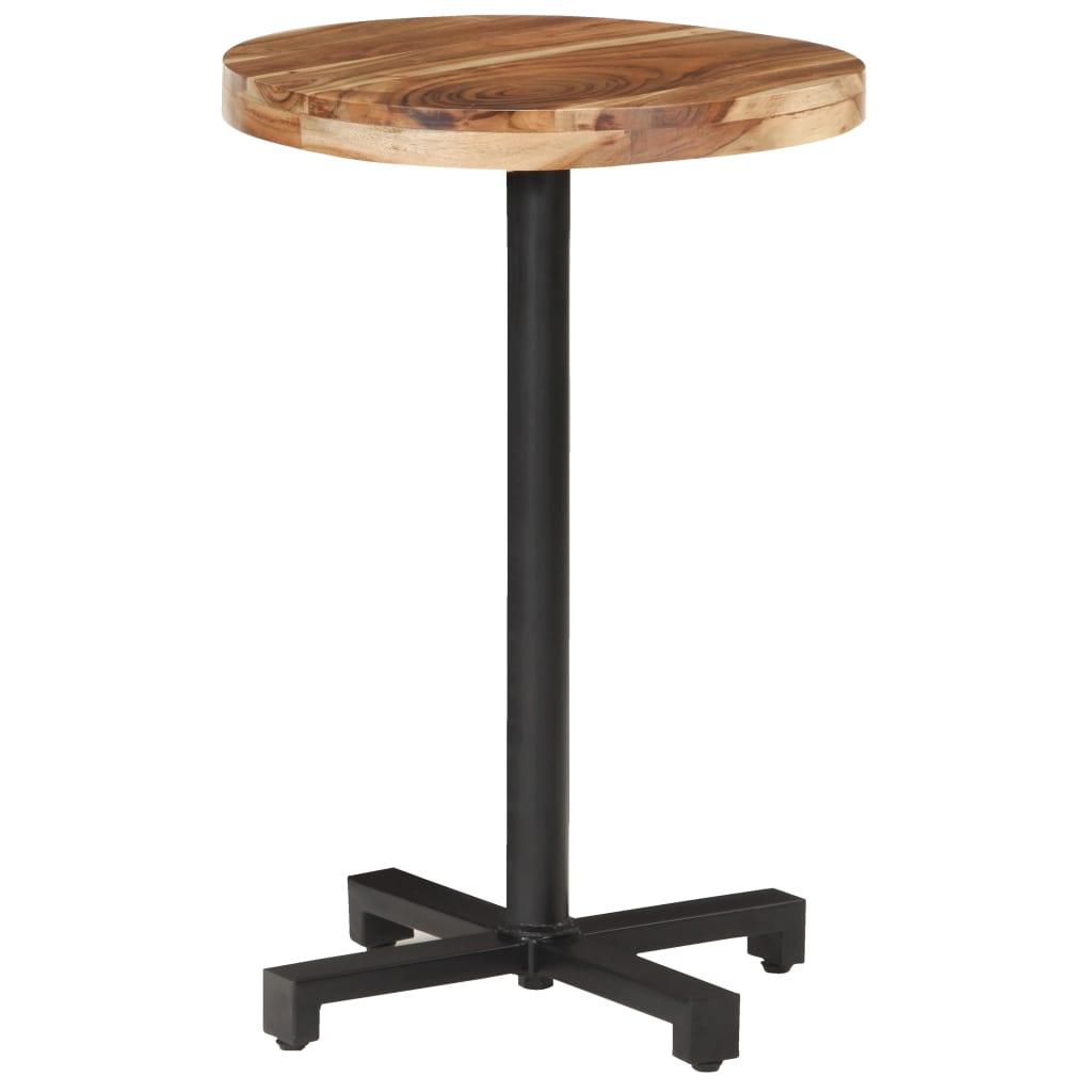Bistro stůl kulatý Ø 50 x 75 cm masivní akáciové dřevo