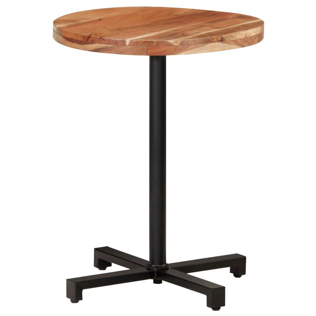 Bistro stůl kulatý Ø 60 x 75 cm masivní akáciové dřevo
