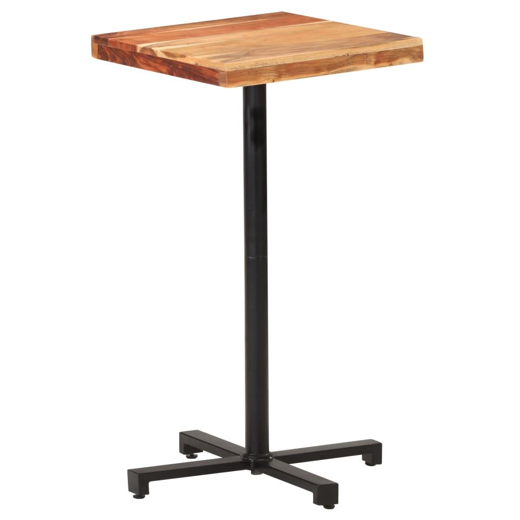 Barový stůl čtvercový 50 x 50 x 110 cm masivní akáciové dřevo