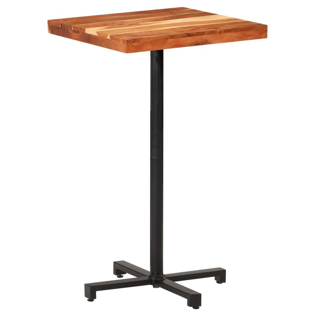 Barový stůl čtvercový 60 x 60 x 110 cm masivní akáciové dřevo