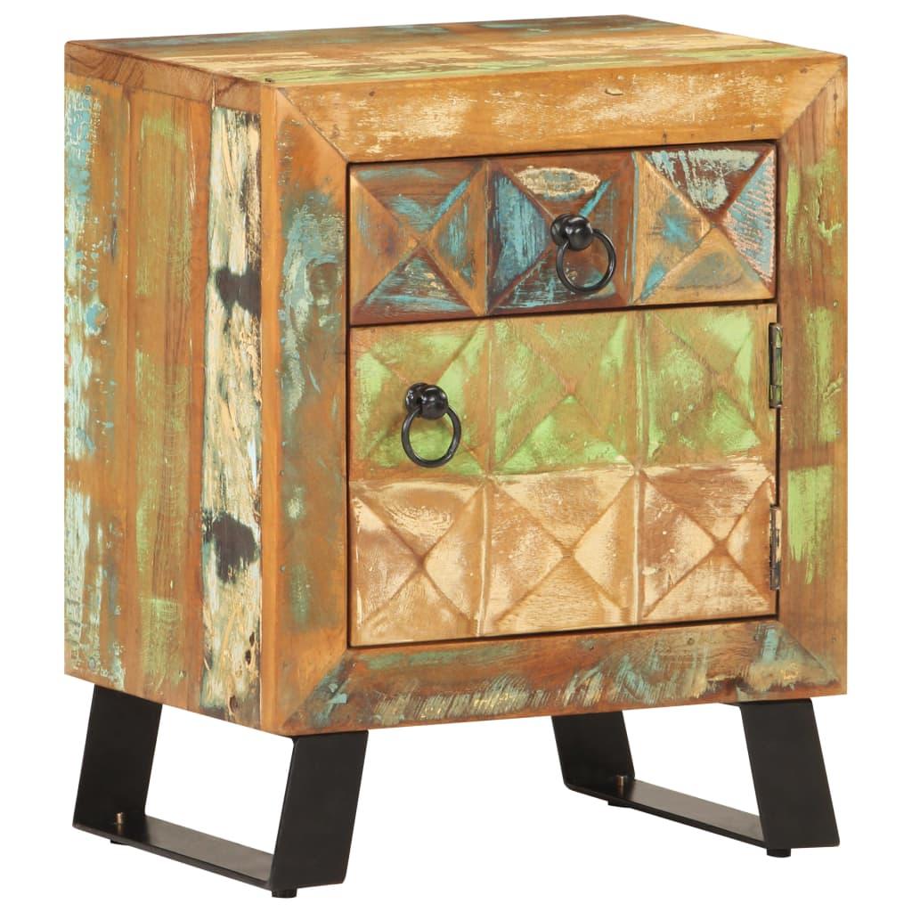 vidaXL Noptieră, 40 x 30 x 50 cm, lemn masiv reciclat poza 2021 vidaXL