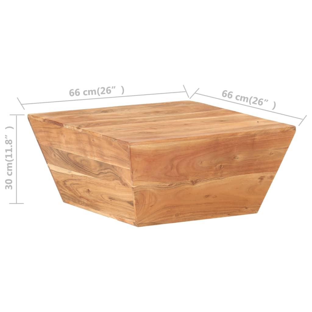 vidaXL Salontafel V-vormig 66x66x30 cm massief acaciahout
