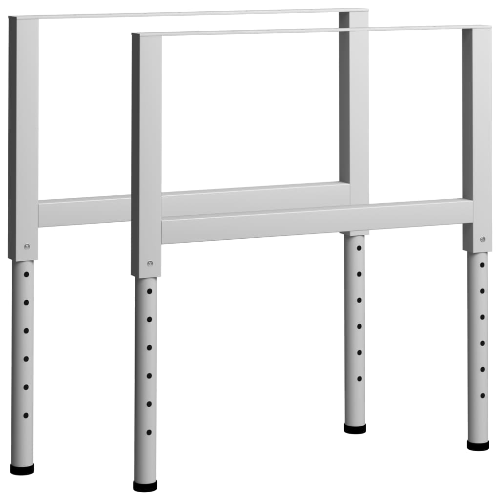 vidaXL Okviri za radni stol 2 kom metalni 85 x (69 - 95,5) cm sivi