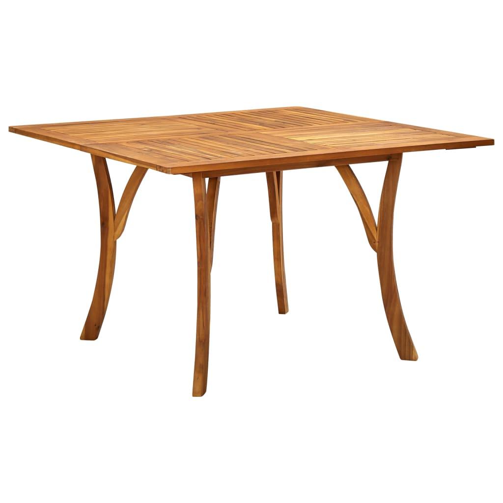 vidaXL Masă de grădină, 120 x 120 x 75 cm, lemn masiv de acacia poza 2021 vidaXL