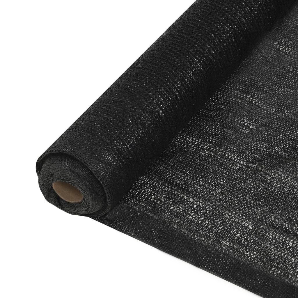<ul><li>Farbe: Schwarz </li><li>Material: 100% HDPE (hochdichtes Polyethylen)</li><li>Dichte: 150 g/m²</li><li>Größe: 1 x 25 m (B x L)</li><li>Wind- und wasserdurchlässig</li><li>Schimmel- und UV-beständiges, atmungsaktives HDPE</li></ul>