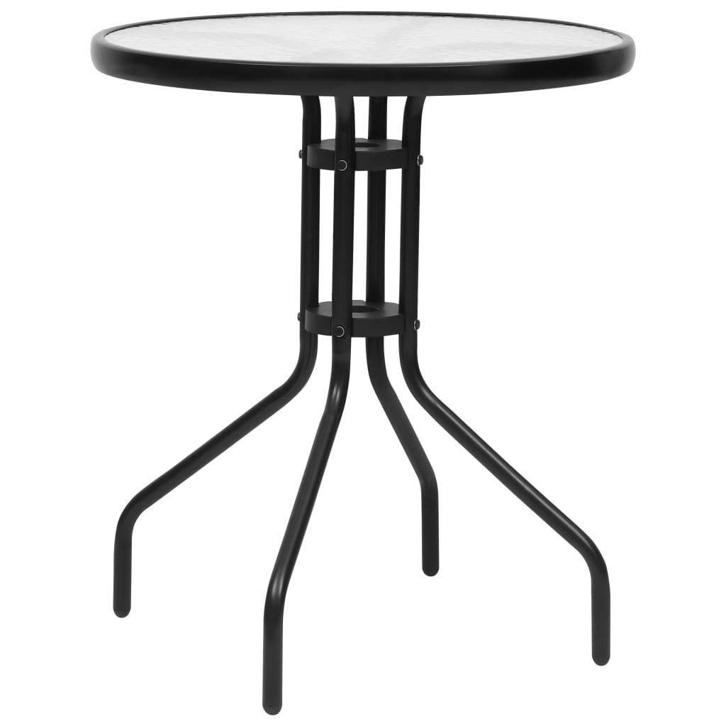 Zahradní stůl černý Ø60 x 70 cm ocel