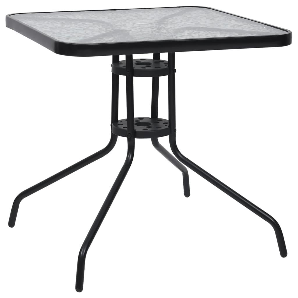 Zahradní stůl černý 70 x 70 x 70 cm ocel