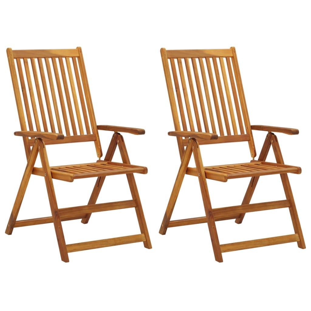 vidaXL lænestole til haven 2 stk. massivt akacietræ