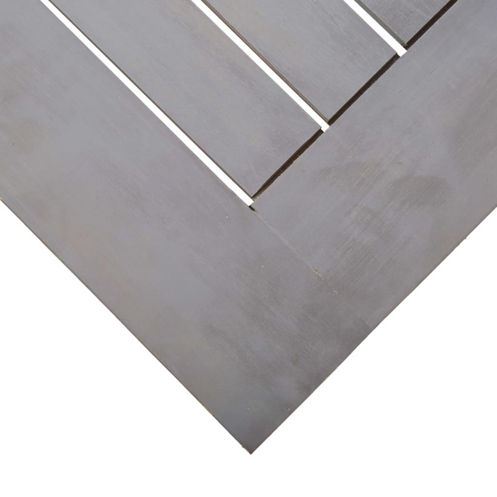 vidaXL Tuintafel 200x90x74 cm massief acaciahout greywash
