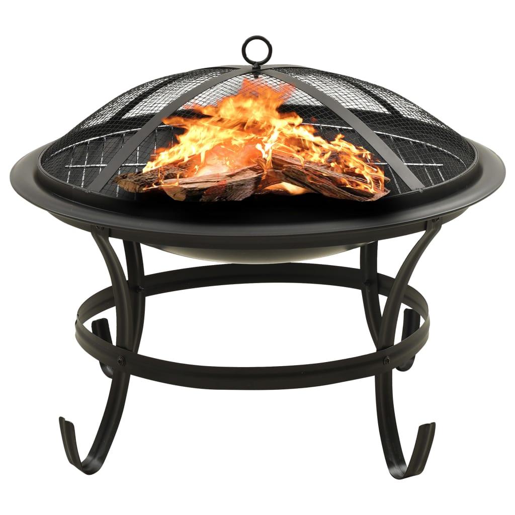 Mísa na oheň a gril s pohrabáčem 56 x 56 x 49 cm ocel