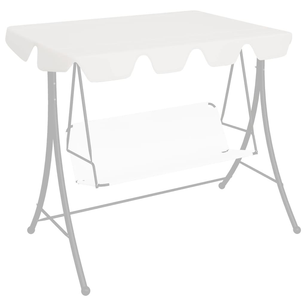 vidaXL Ersatzdach für Hollywoodschaukel Weiß 150/130×70/105 cm