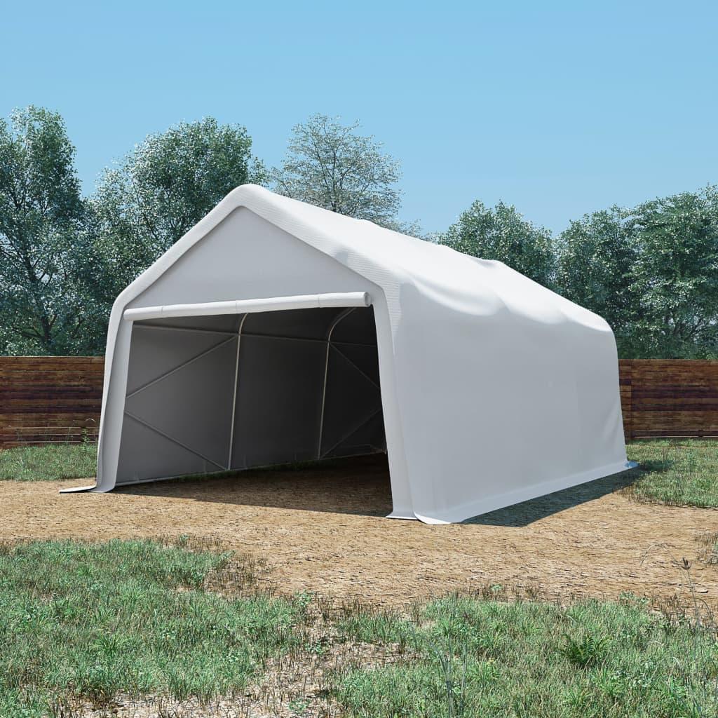 vidaXL Cort de depozitare, alb, 4 x 6 m, PVC, 550 g/m² vidaxl.ro