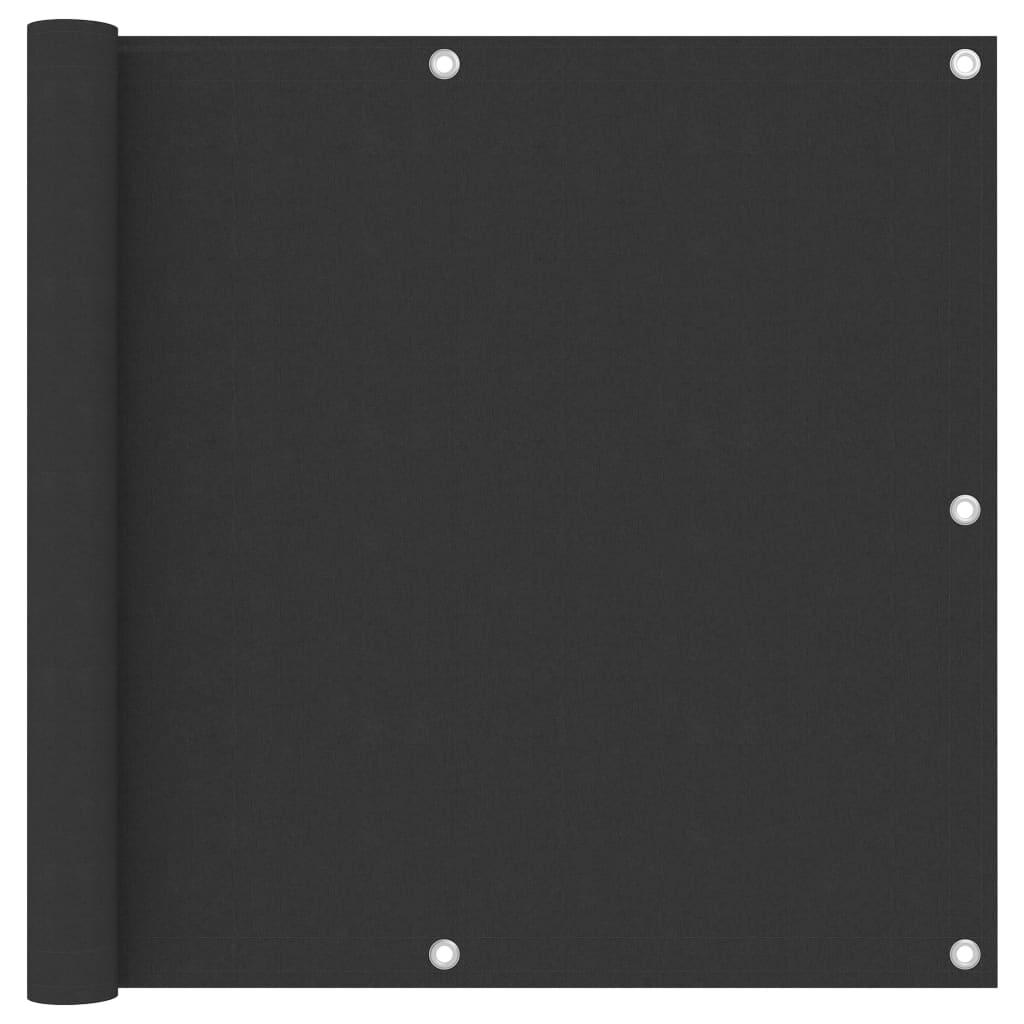 vidaXL Balkónová zástěna antracitová 90 x 500 cm oxfordská látka