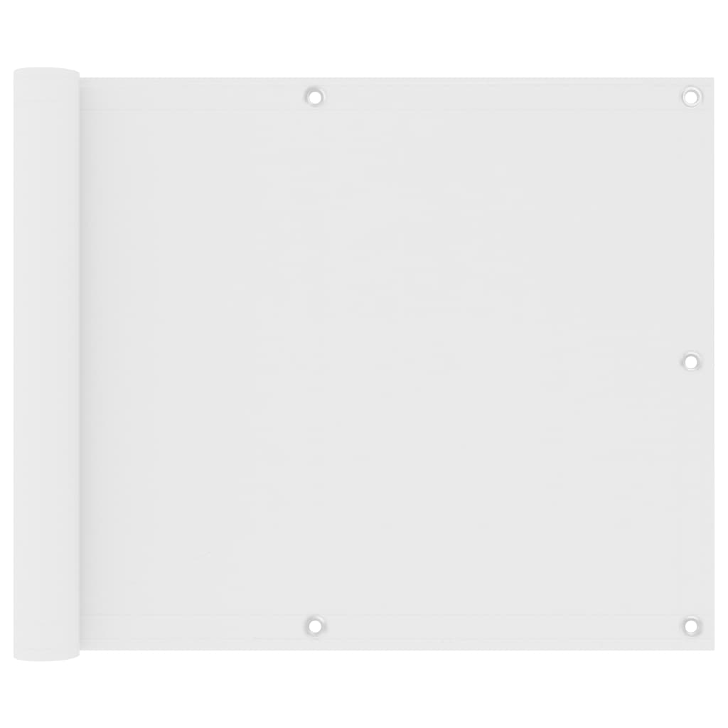 Balkónová zástěna bílá 75 x 300 cm oxfordská látka