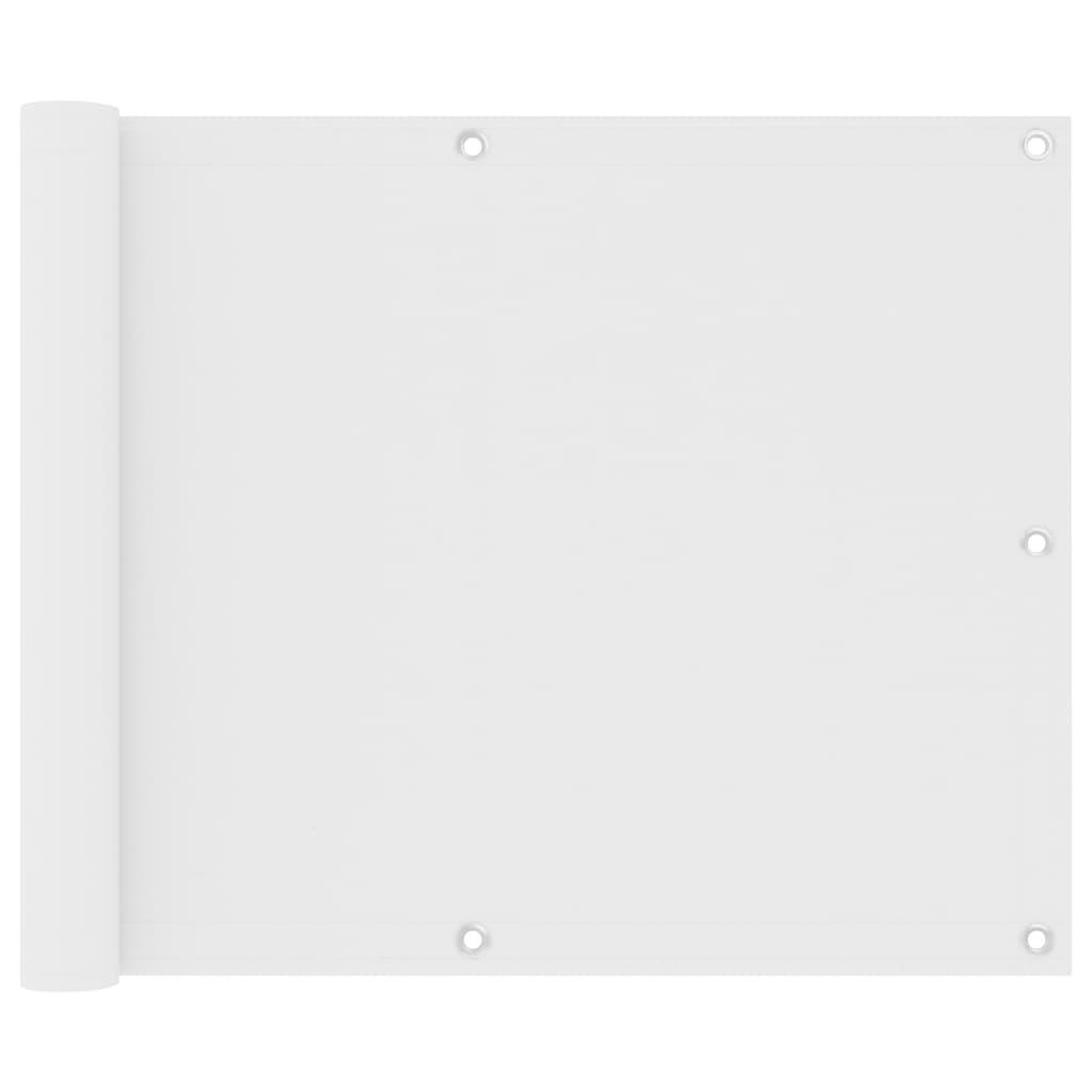 Balkónová zástěna bílá 75 x 400 cm oxfordská látka