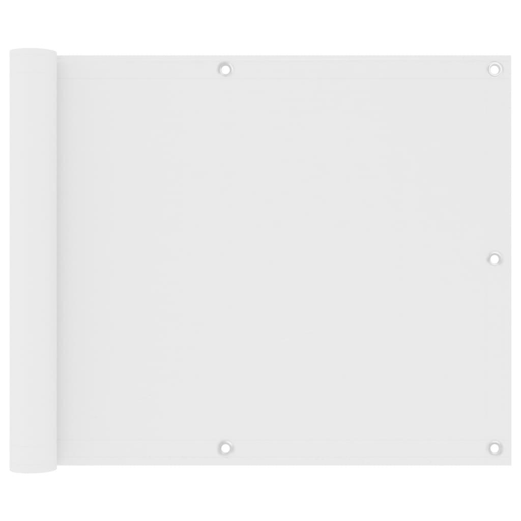Balkónová zástěna bílá 75 x 500 cm oxfordská látka