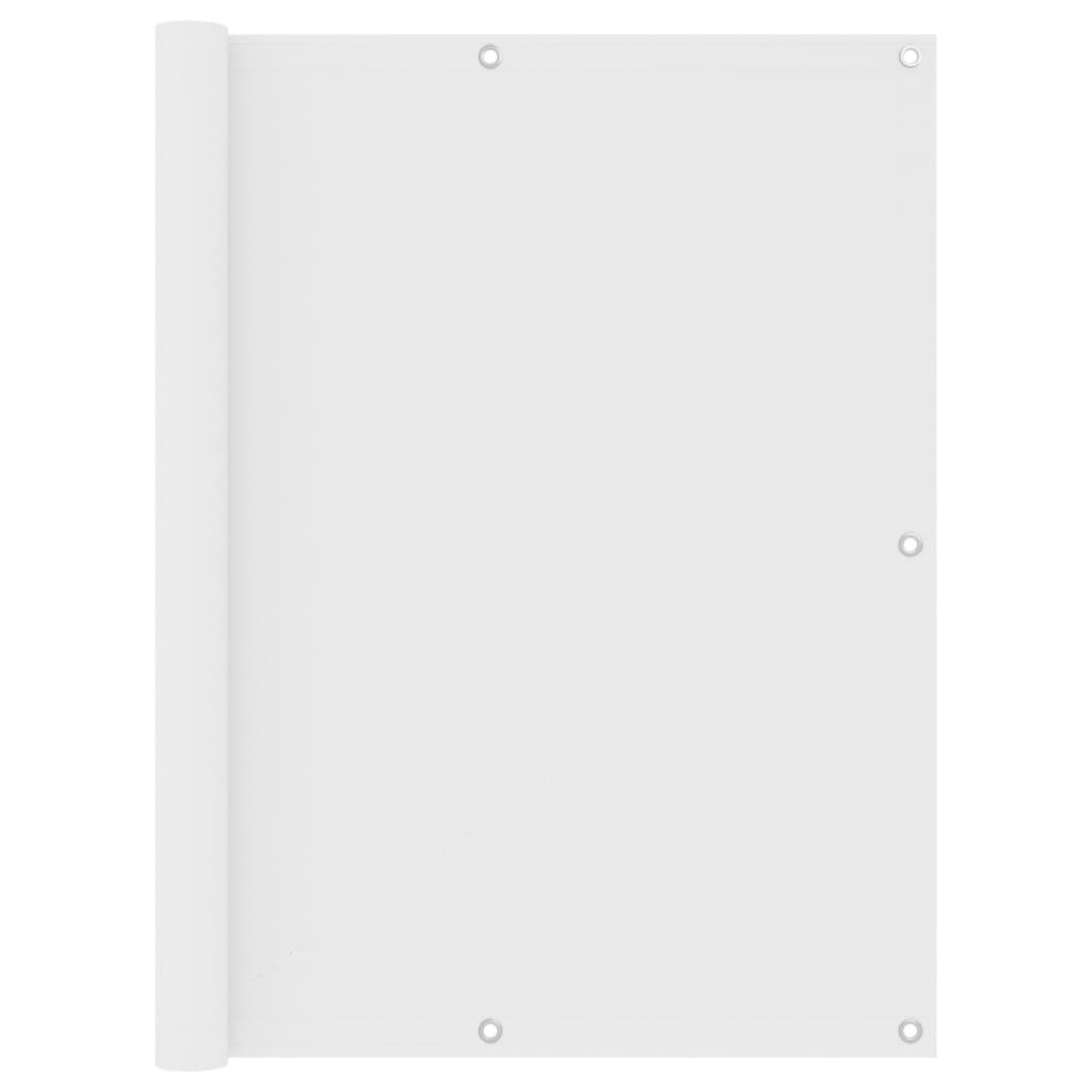 Balkónová zástěna bílá 120 x 300 cm oxfordská látka