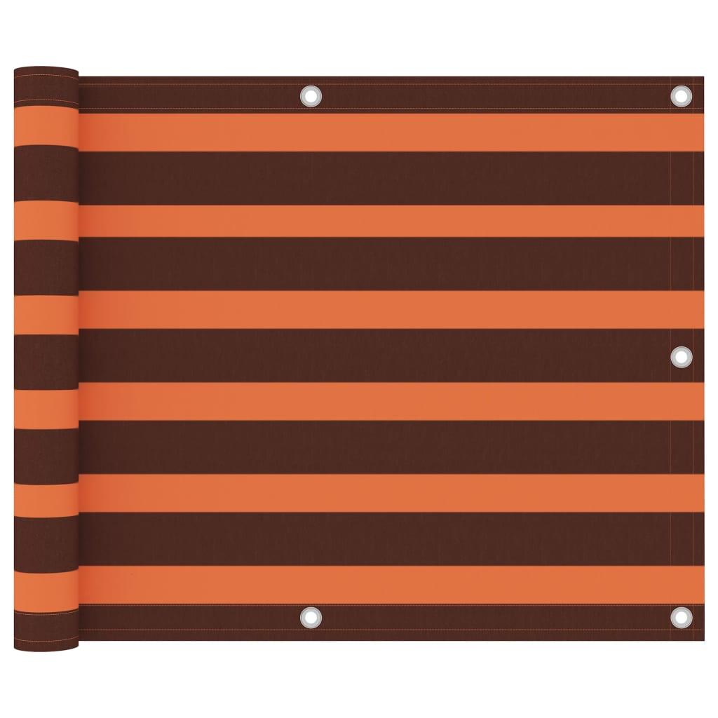 Balkónová zástěna oranžovo-hnědá 75 x 300 cm oxfordská látka