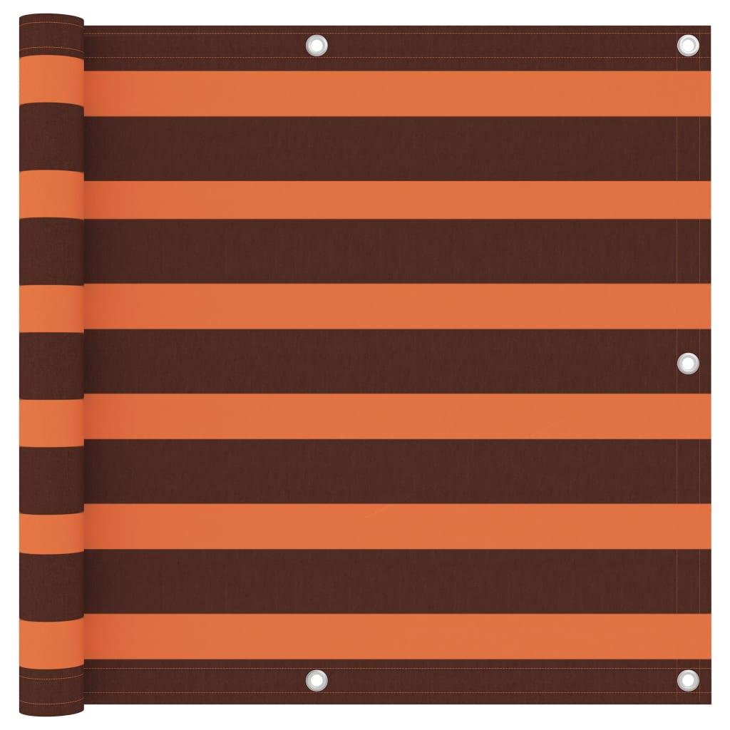 Balkónová zástěna oranžová a hnědá 90 x 300 cm oxfordská látka