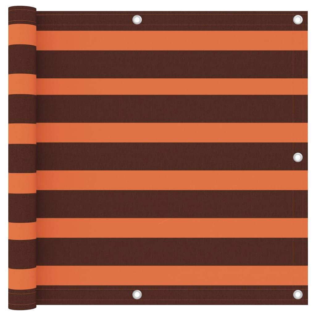 Balkónová zástěna oranžovo-hnědá 90 x 400 cm oxfordská látka