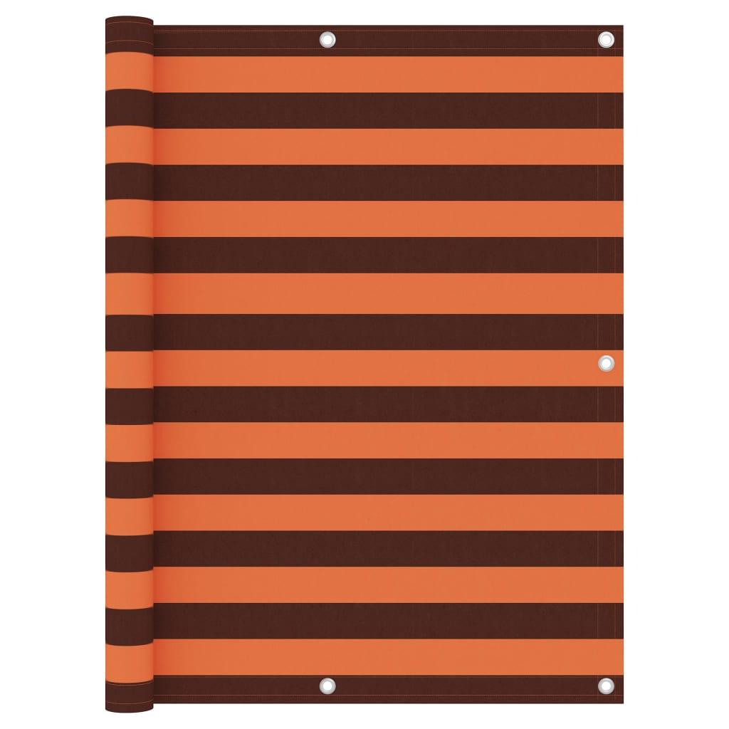 Balkónová zástěna oranžovo-hnědá 120 x 300 cm oxfordská látka