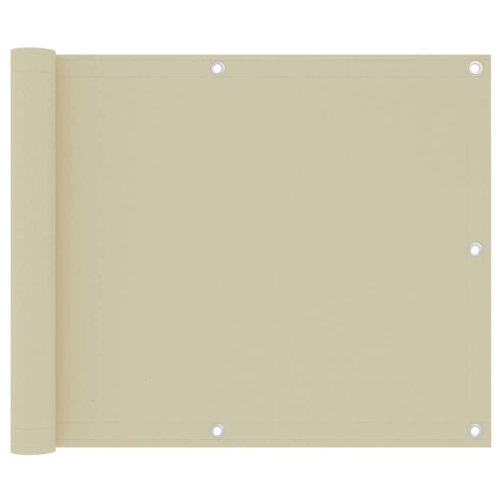 Balkónová zástěna krémová 75 x 300 cm oxfordská látka