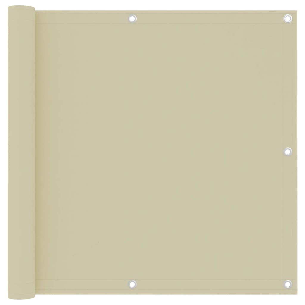 Balkónová zástěna krémová 90 x 300 cm oxfordská látka