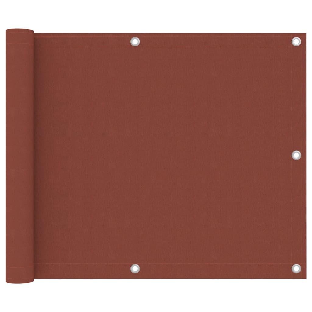 vidaXL Balkon-Sichtschutz Terracotta-Rot 75×500 cm Oxford-Gewebe