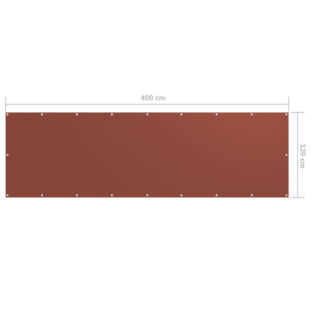 Balkónová zástěna cihlová 120 x 400 cm oxfordská látka