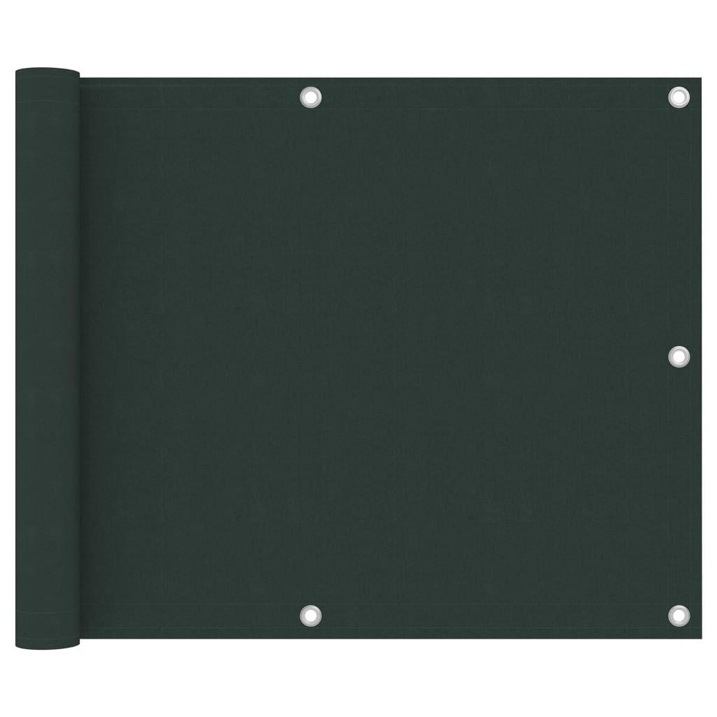 Balkónová zástěna tmavě zelená 75 x 500 cm oxfordská látka