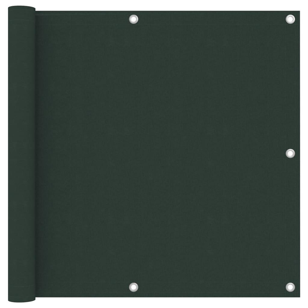Balkónová zástěna tmavě zelená 90 x 400 cm oxfordská látka
