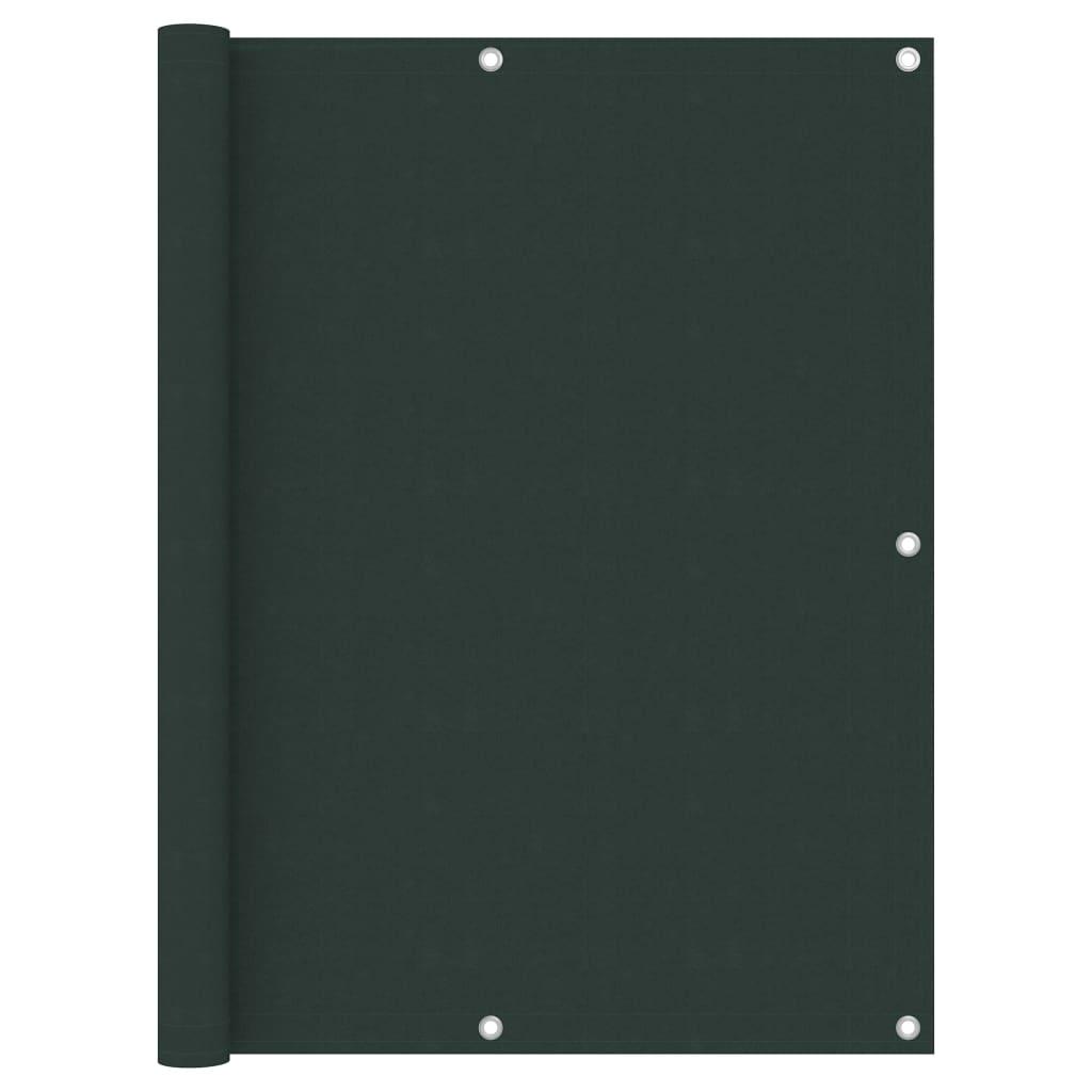 Balkónová zástěna tmavě zelená 120 x 300 cm oxfordská látka