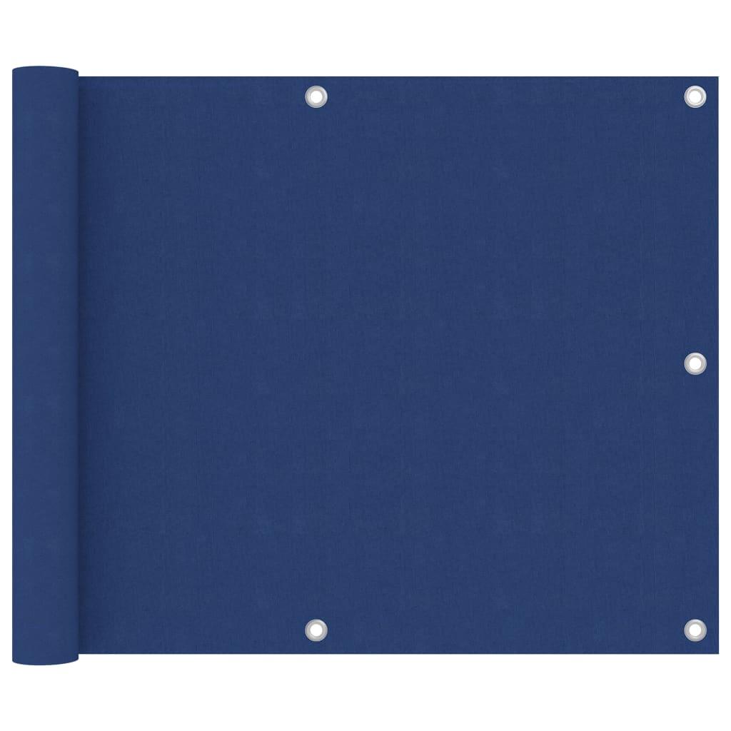 Balkónová zástěna modrá 75 x 500 cm oxfordská látka