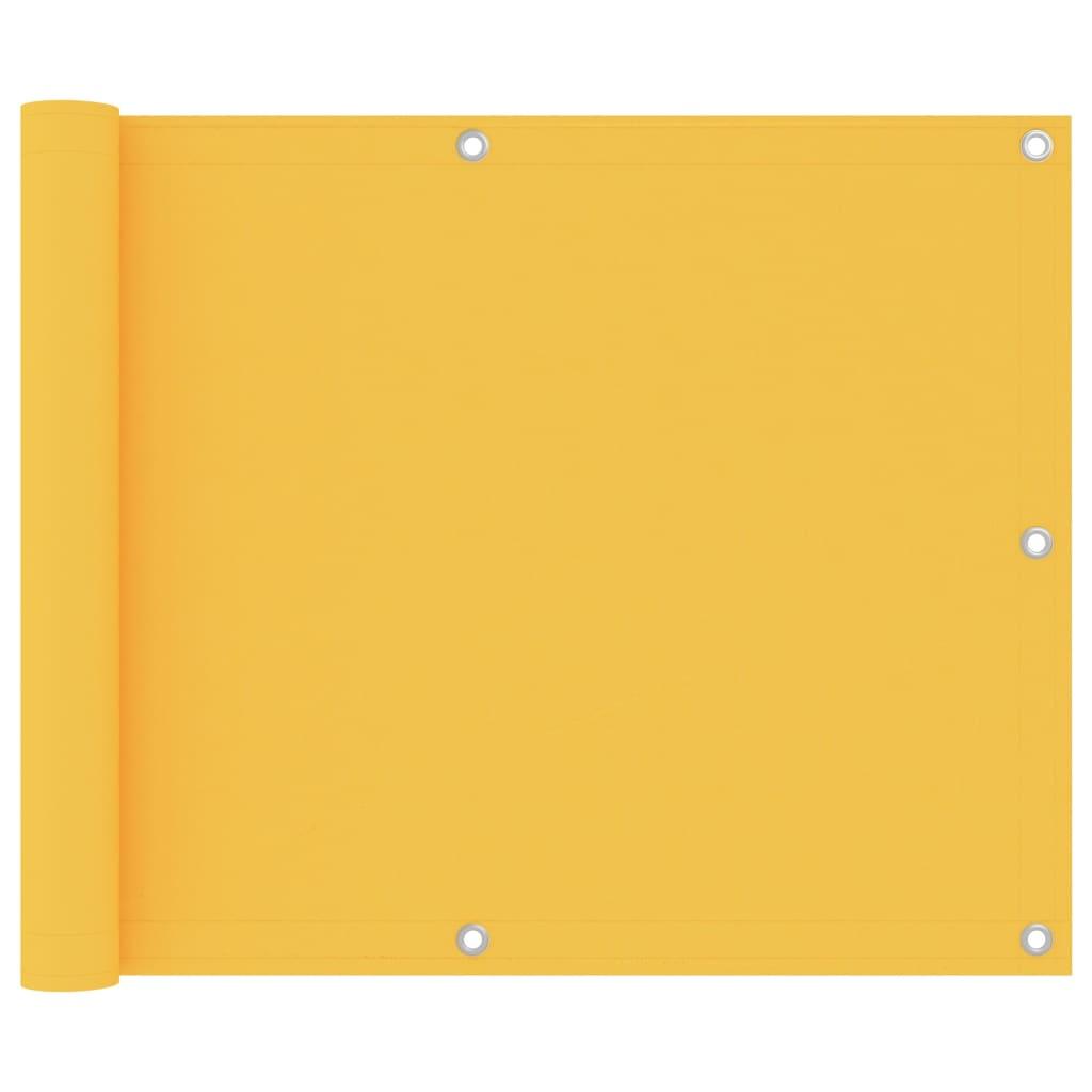 Balkónová zástěna žlutá 75 x 500 cm oxfordská látka