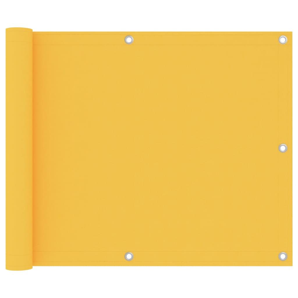 Rõdusirm, kollane, 75 x 600 cm, oxford-..