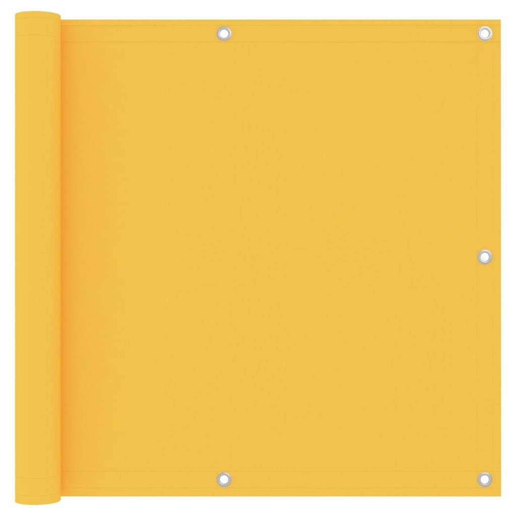 Balkónová zástěna žlutá 90 x 300 cm oxfordská látka